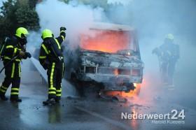 Autobrand vrachtwagenbrand Heide 12 Heuythuysen