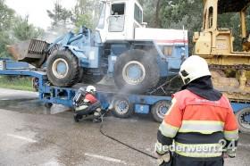 vrachtwagenbrand A2 bij Wildenberg