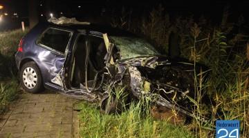autowrak ongeval Kanaaldijk Meijel