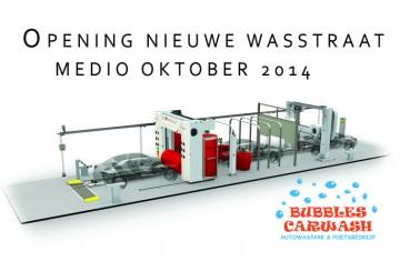 Bubbles Carwash nieuwe wasstraat