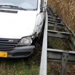 Ongeval Venloseweg Nederweert vangrail