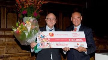 Herman Wijffels en Burgemeester Evers van Nederweert