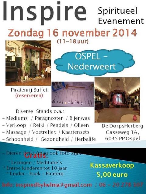spirituele beurs in De Dorpsherberg Ospel