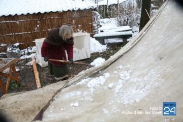 Eynder Winter Festijn helemaal wit door de sneeuw