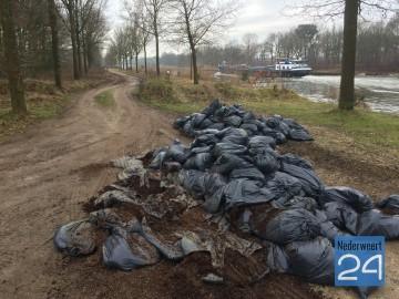 2015-01-20 Hennepafval gedumpt in Leveroy