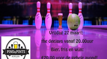 The Deejays luiden weekend in bij Pins & Pints Bowling
