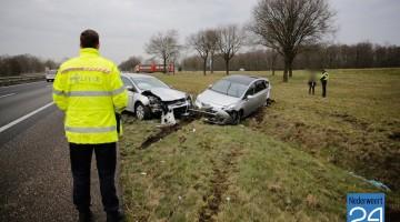 Ongeval A2 bij afslag Budel