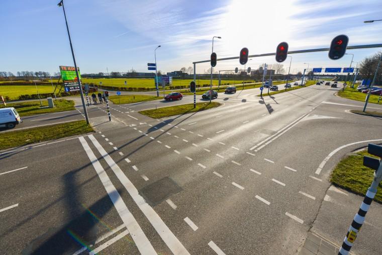 kruispunt randweg A2 Nederweert