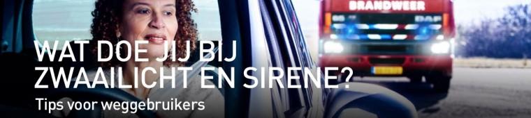 wat doe jij bij zwaailicht en sirene in de auto