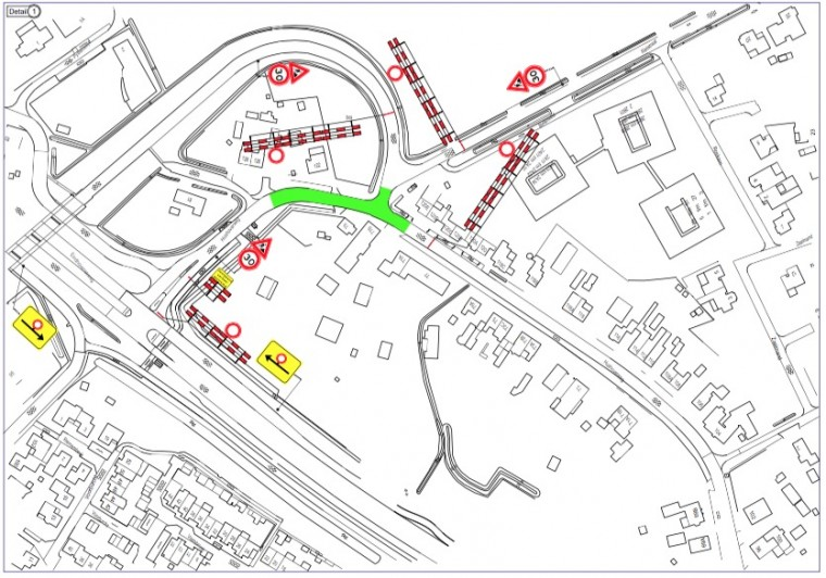 Afsluiting kruising Hushoverweg - Rietstraat - Floralaan