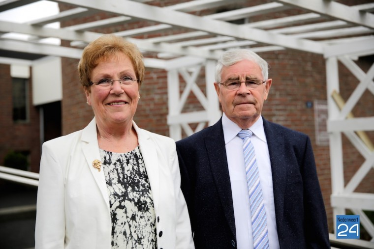 Jan van Eijk en Nelley van Eijk Smolenaers vieren gouden huwelijk