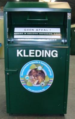 kledingcontainer Adoptiefonds P Konings en Venezuelawerkgroep