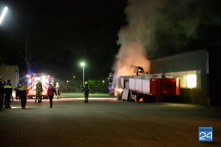 Brand Suffolkweg Weert Harm Fonteyn transport