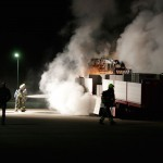 Vrachtwagenbrand in Weert