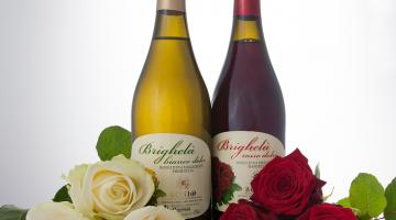 wijn met roos