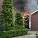 Brand frietwagen Ospel
