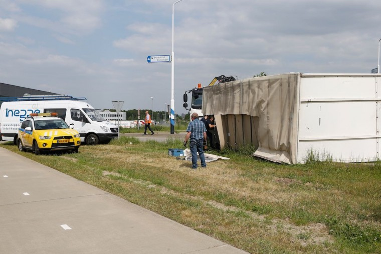 Ongeval Weert container