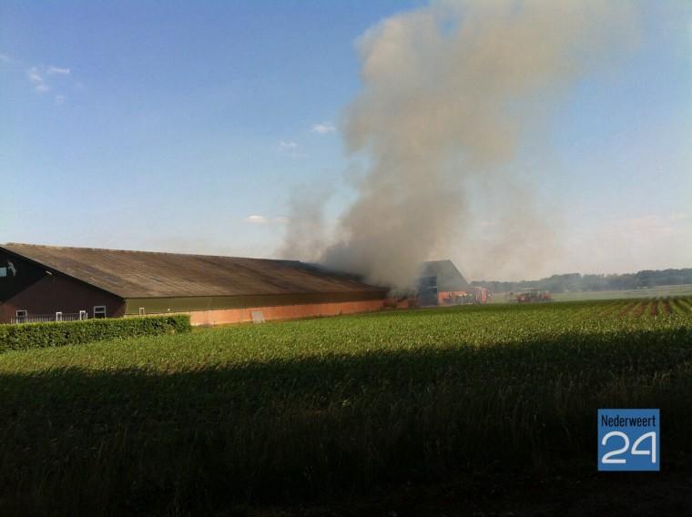 zeer grote brand bij geitenbedrijf