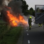 Autobrand Nederweert vuur