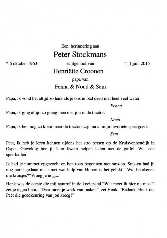 Peter Stockmans Prentje 2