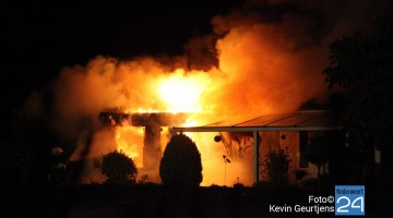 Uitslaande brand in chalet Meijel