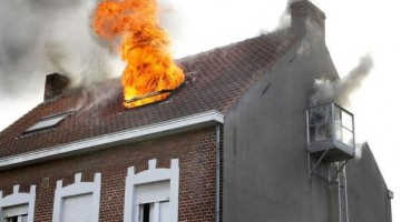 brand in huis