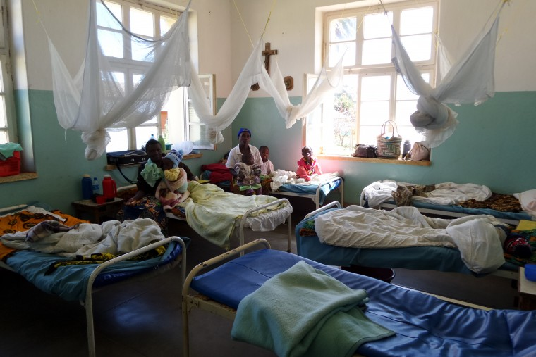 Beds St. Anna's Health Center with patients