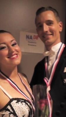 Fauve en Roeland na wedstrijd NK showdance