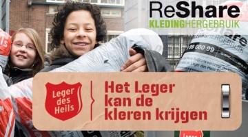 Kledinginzamelingsactie van ReShare bij BS Zonnehof Leveroy
