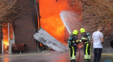 Grote brand in Meijel (Foto's + Video)