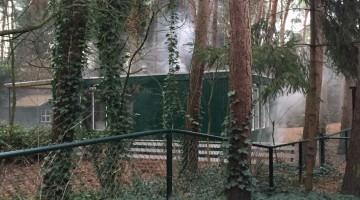 Brand in bungalow vakantiepark Stille Wille