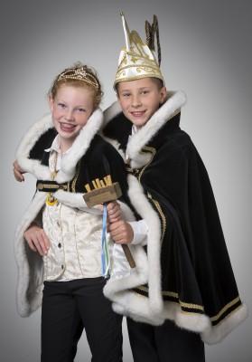 Jeugdprinsenpaar VV de Pinmaekers