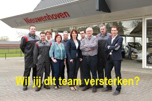 Vacature autobedrijf van Nieuwenhoven