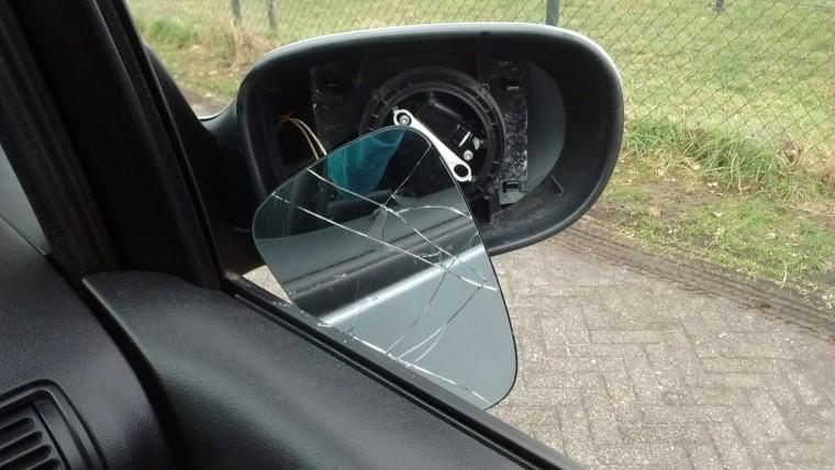 spiegel vernield