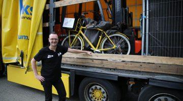 Rogé doet Alpe d'Huzes met speciale transportfiets