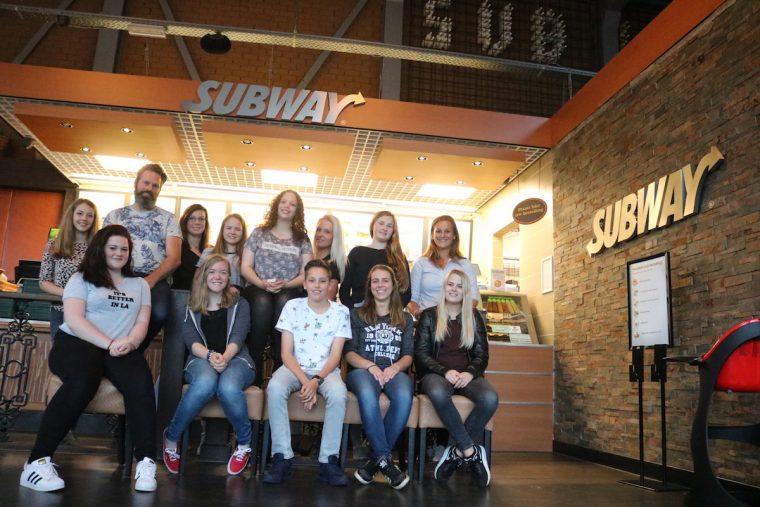 Subway Nederweert - teamfoto