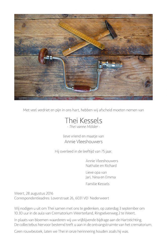 Overlijdensbericht Thei Kessels Nederweert