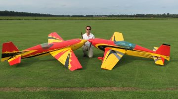 Jurriën Nederlands kampioen modelvliegen klasse F3A-X (IMAC)