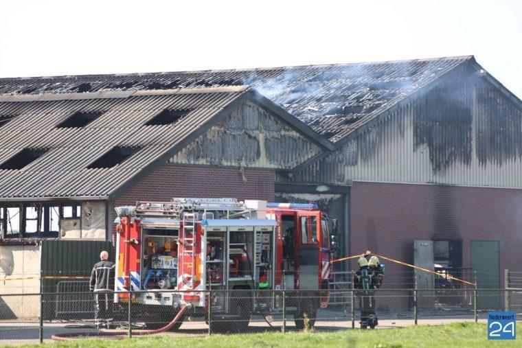 Brand veebedrijf Landbouwstraat Someren