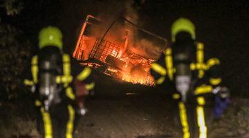 Uitgebrande vrachtwagen blijkt gestolen