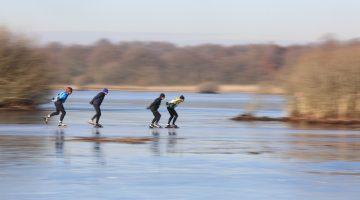 Schaatsen in Nederweert nog niet veilig (Foto's)