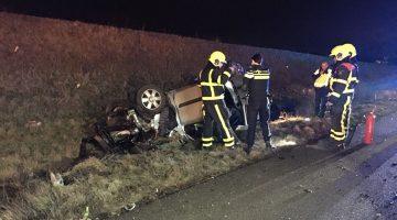 Auto belandt in greppel A2 bij Kelpen-Oler