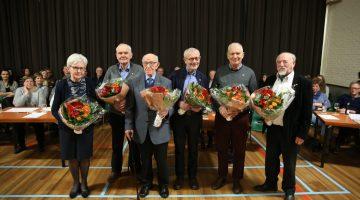 345 jaar aan jubilarissen bij Fanfare Concordia Leveroy