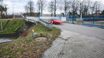 Werkzaamheden aan brug bij Sluis 15