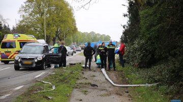 Auto en vrachtwagen botsen op N280 in Baexem