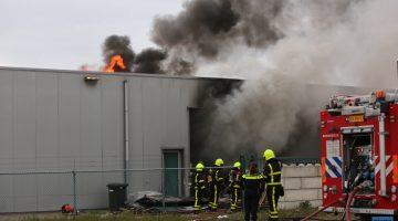 Brand op bedrijventerrein Ittervoort (Foto's + Video)