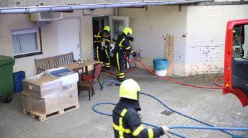 Brandlucht in machinekamer Weerterbergen