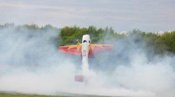 Nationale wedstrijd met modelvliegtuigen bij MVC Nederweert