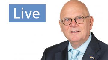 Burgemeester Evers live op Facebook