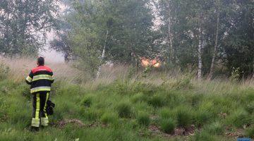 Grote brand in natuurgebied de Groote Peel